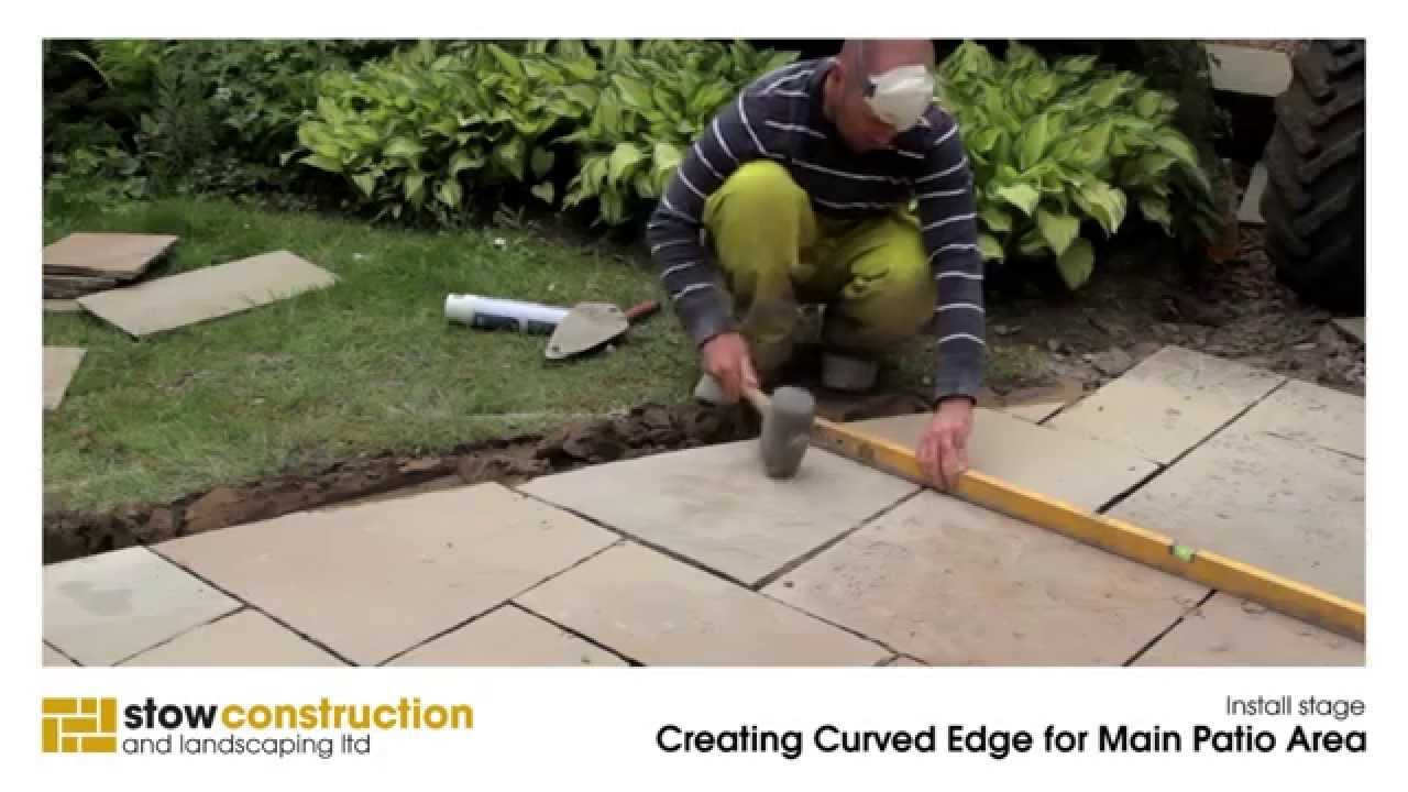 Elegant Gullane Case Study #1   Creating Patio Curved Edge