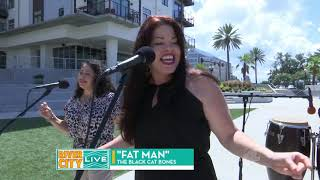 Kim Reteguiz & The Black Cat Bones Ch 4 River City Live appearance-FAT MAN