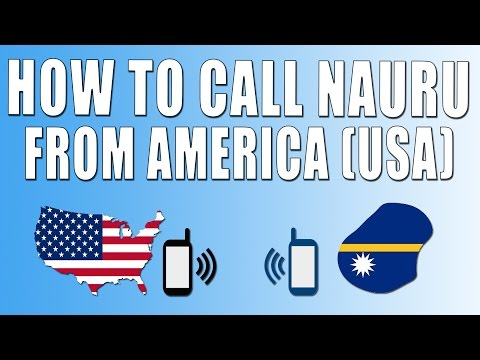 How To Call Nauru From America (USA)