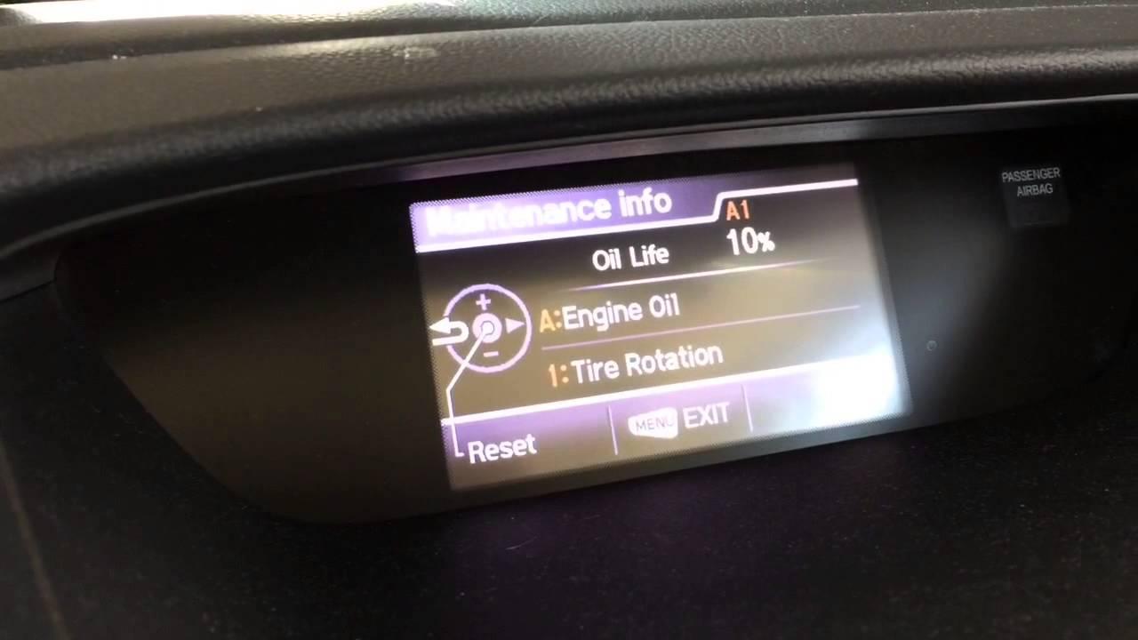 Honda 2015 cr v reset yellow oil wrench maintenance light for Honda crv wrench light
