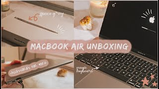 MacBook Air 2020 Unboxing + Accessories Haul for Work 💻 👩🏻💻🎧🛍️