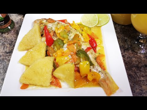 Jamaican Steamed Fish And Bammy