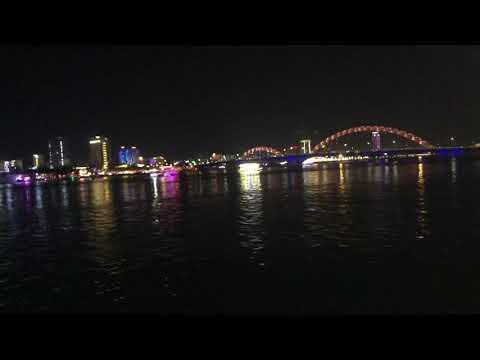 Danang Vietnam dragon bridge with Korea and japan tourist areas