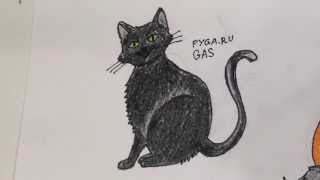 Как нарисовать кошку карандашом поэтапно ребенку [Видеоурок](В этом видео показано как нарисовать кошку карандашом поэтапно. Начиная от обычных кругов и овалов простым..., 2015-09-16T04:36:48.000Z)