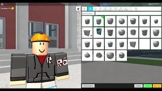 Como olhar como builderman em ROBLOXian High School