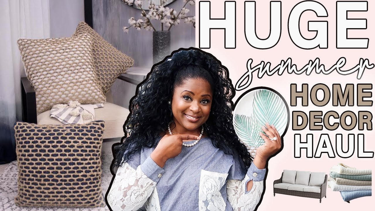 NEW! HUGE PATIO AND HOME DECOR HAUL| DECORATE WITH ME
