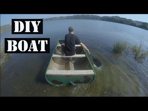 DIY BOAT Made From Oil Barrels