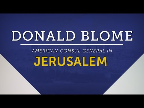 Meet Donald Blome, the new American consul general in Jerusalem