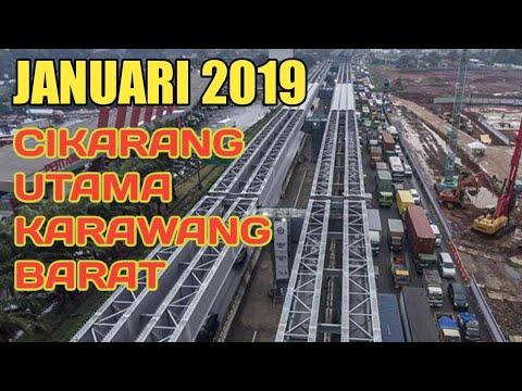 Kemajuan Proyek Tol Ja - pek Elevated 2, Cikarang Utama - Karawang Barat Januari 2019