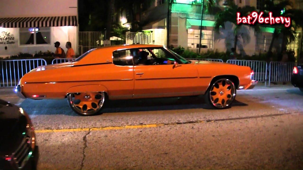 Orange 73 Caprice Donk On 26 Quot Gfg S Amp Pink Ls Box Chevy On
