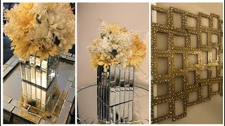 Dollar Tree DIY - 💕 Large Mirrored Tray and Centerpiece 💕