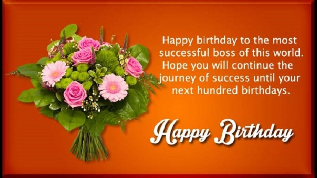 Happy Birthday Wishes For Boss Birthday Quotes Messages Sms