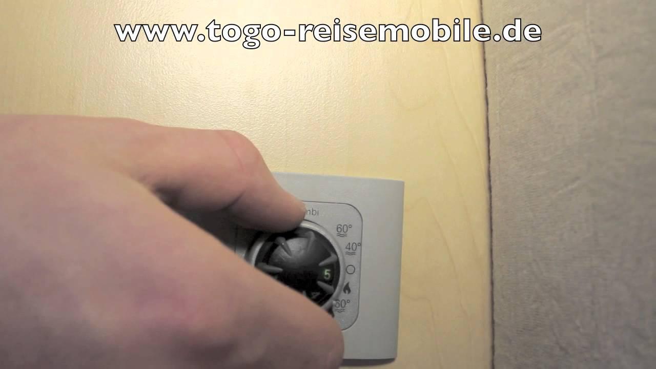 einweisung truma combi bedienteil von togo reisemobile. Black Bedroom Furniture Sets. Home Design Ideas