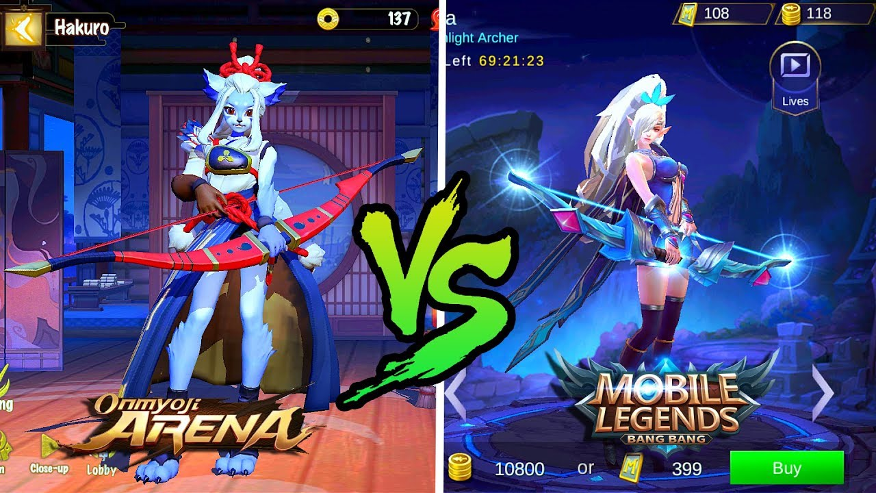 Onmyoji Arena vs Mobile Legends - WHICH ONE IS BETTER ? | Android/IOS