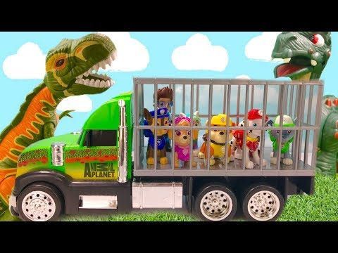Paw Patrol Dinosaur Park Rubble Helps Rescue Pups & Ryder