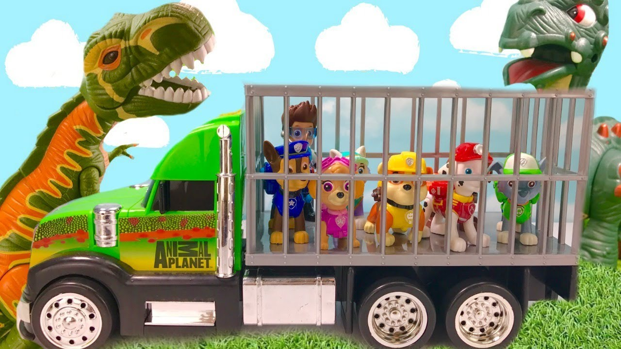 Fizzy Fun Toys: Paw Patrol Dinosaur Park Rubble Helps Rescue Pups & Ryder