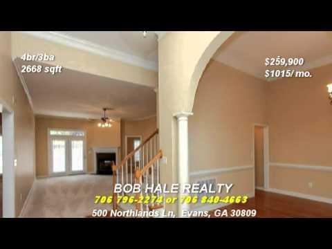 Evans Real Estate Evans Ga Homes For Sale Youtube