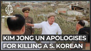 'Very sorry': Kim Jong Un apologises for killing of South Korean