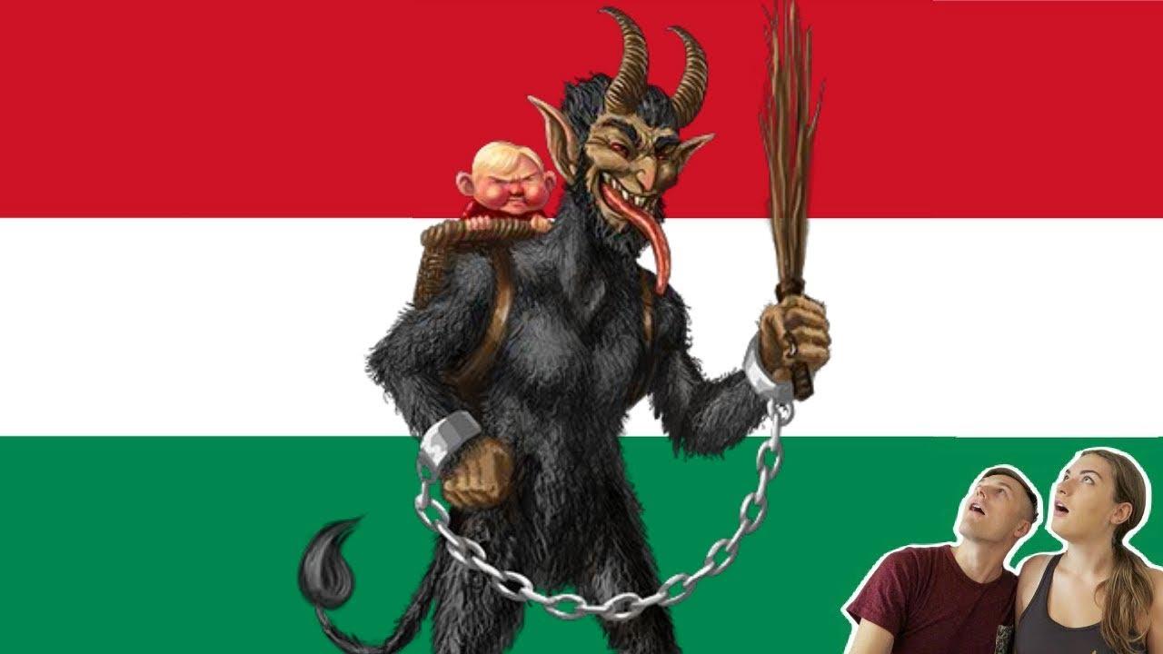 Hungarian Christmas Traditions.Krampusz Speaking Hungarian Christmas Edition