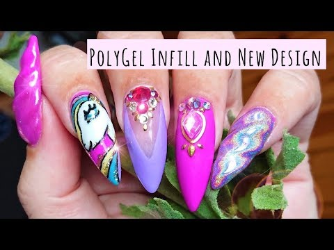 PolyGel Infill | New design | Trying some freehand drawing | My little Pony