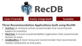 RecDB - A Recommendation Engine built Entirely Inside PostgreSQL 9.2