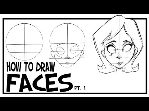 How To Draw Faces- Front View: CARTOONING 101 #1