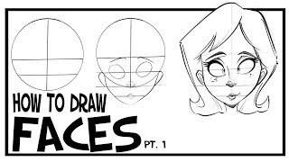 How To Draw Faces- Fr๐nt View: CARTOONING 101 #1