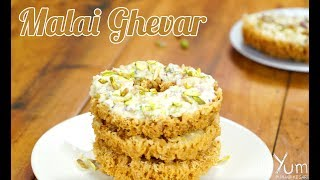 Malai Ghevar | How to Make Malai Ghevar | Malai Ghevar Recipe