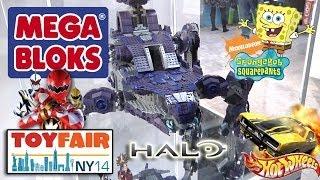 MEGA BLOKS at NY Toy Fair - HALO Scarab, Hot Wheels, Sponge Bob, Power Rangers, Kapow 2014