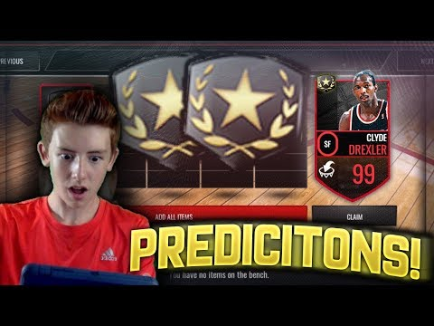 NEW 99 KG? ULTIMATE LEGEND CARD PREDICITONS! NBA Live Mobile Custom Cards