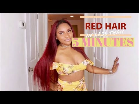 HOW TO: Dye Hair RED with NO BLEACH! | Loreal HiColor Magenta & Red