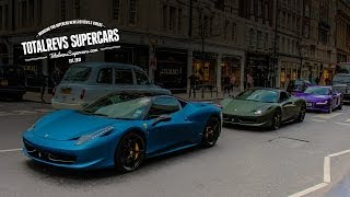 Colourful Supercars! Amazing Wrapped Supercars in London