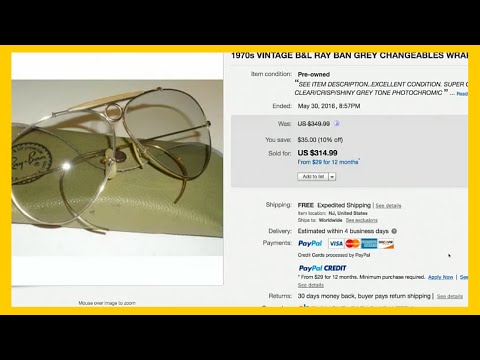 What to Sell on Ebay - Can You Make Extra Money Selling Sunglasses?