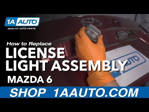 How to Replace License Plate Light Assembly 02-07 Mazda 6