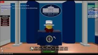 ROBLOX Presidential Press Confrence