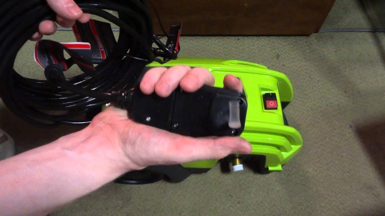 Greenworks 1500psi Electric Pressure Washer Unboxing Youtube