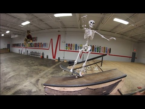 SKELETON TRIES SKATEBOARDING!