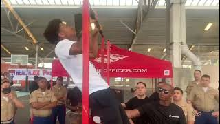 Demarjay Smith kicks off the pull-up bars for the HealthJox Festival!