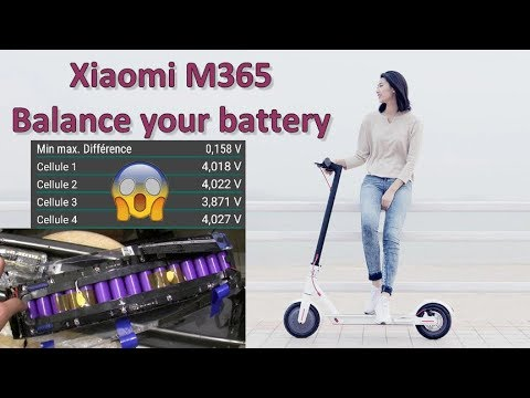 Xiaomi M365 - Load Balancing of the modules or cells of the battery