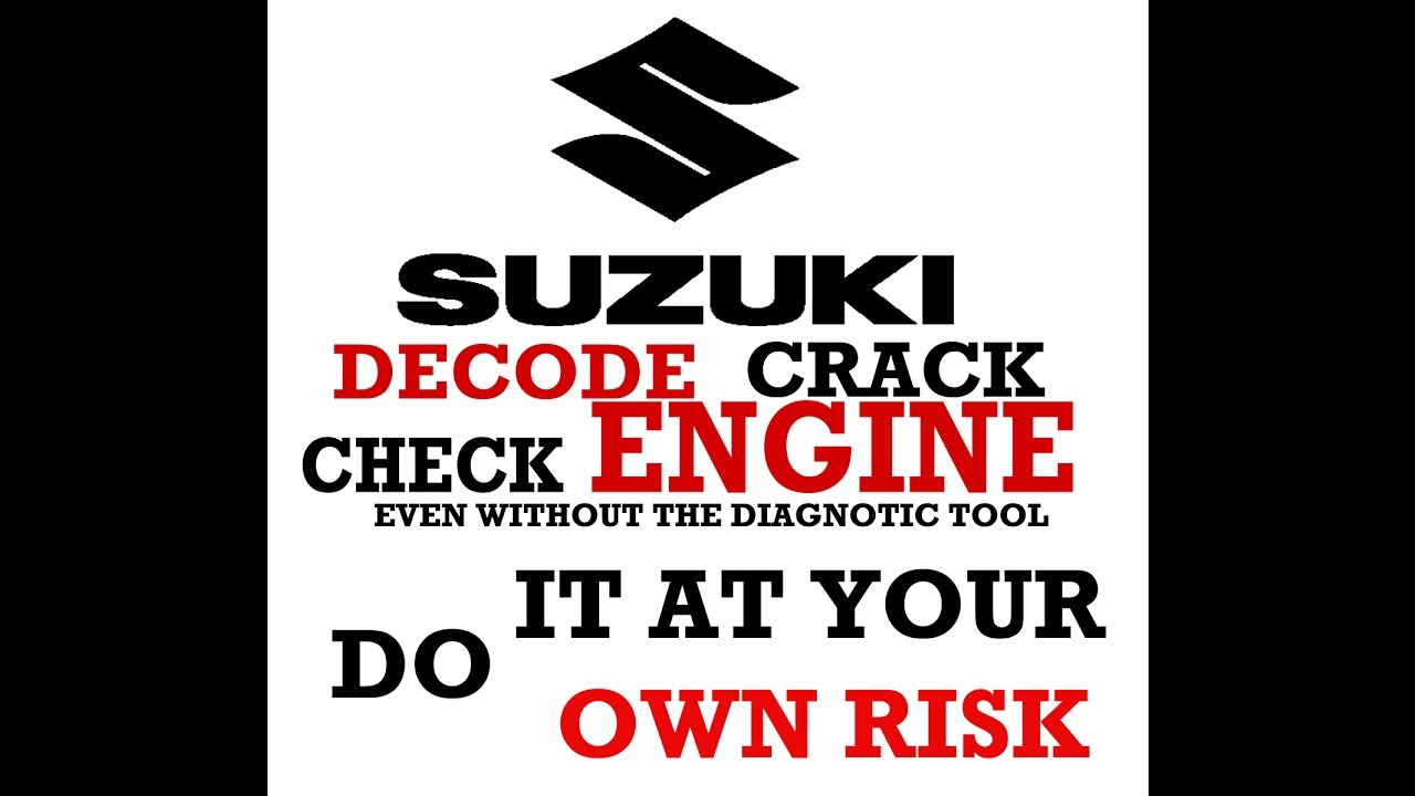 OBD HACK How to Decode & read SUZUKI 6 pin Check engine even without OBD  Scanner