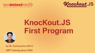 First Program of Knockout.JS - Knockout.JS Tutorial - Part 2