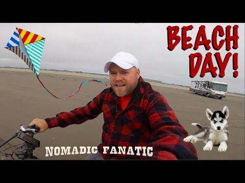 Driving RV On Beach & Dogsitting