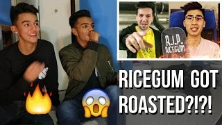 ricegum gets roasted callux diss track on ricegum reaction