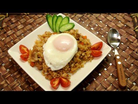 How to make Indonesian Fried Rice (Nasi Goreng) / エスニック風味な炒飯が美味い!