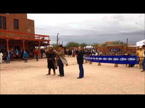 High Chaparral Stars introduced for a gunfight at Rawhide festival
