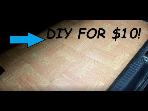 How to DIY custom wood trunk set up for less than $10!