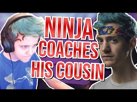 I'm Ninjas Cousin And He Coached Me On Fortnite Battle Royale