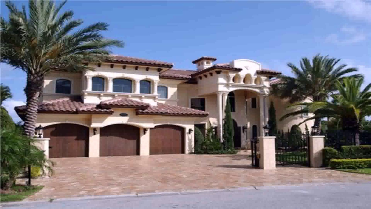 Spanish style house plans designs youtube for Spanish style homes for sale near me