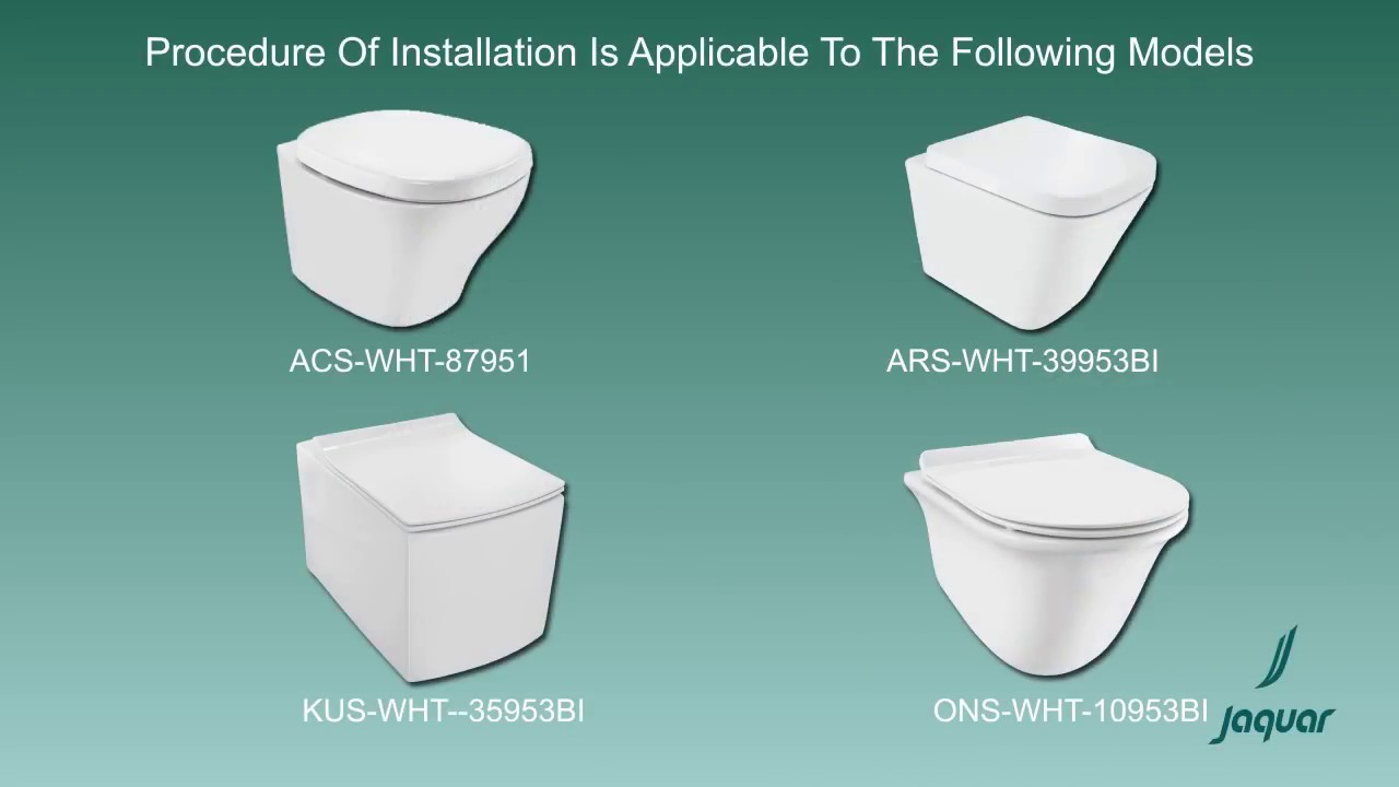 Beliebt Jaquar wall hung WC Installation - YouTube YV13