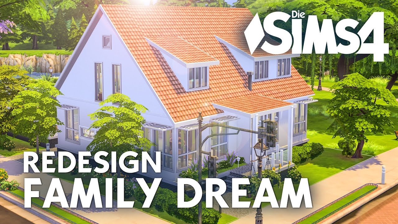 Die sims 4 family dream redesign let 39 s build zum for Modernes haus sims 4